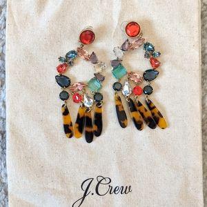 J.Crew Crystal & Resin Earrings Clip-on